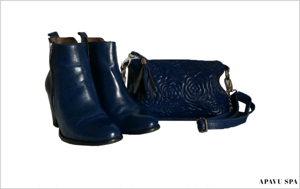 Blue shoes for a blue bag